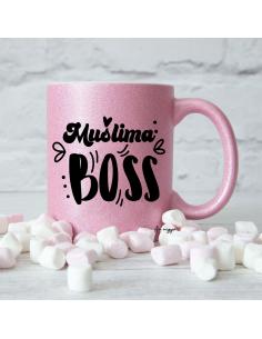 Mug Glitter Rose Muslima Boss