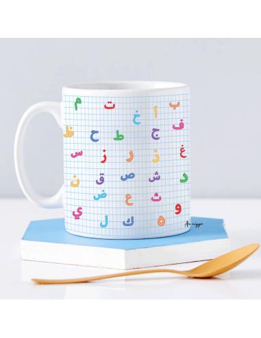 Mug alphabet arabe personnalisé