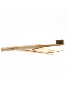 Brosse à dents Bambou infusé dans le charbon - ASWIKA