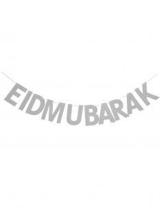 Guirlande Eid Mubarek Argentée