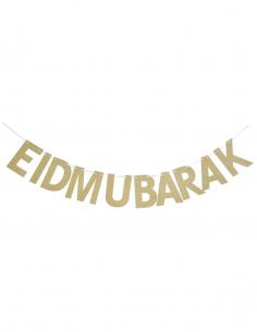 Guirlande Eid Mubarek Dorée
