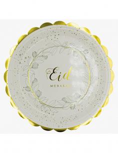 Assiette Eid Mubarek Doré