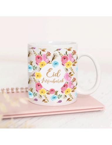 Mug Personnalisé Eid Moubarek Flower